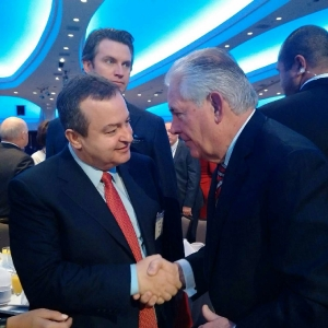 Minister Dacic with Rex Tillerson